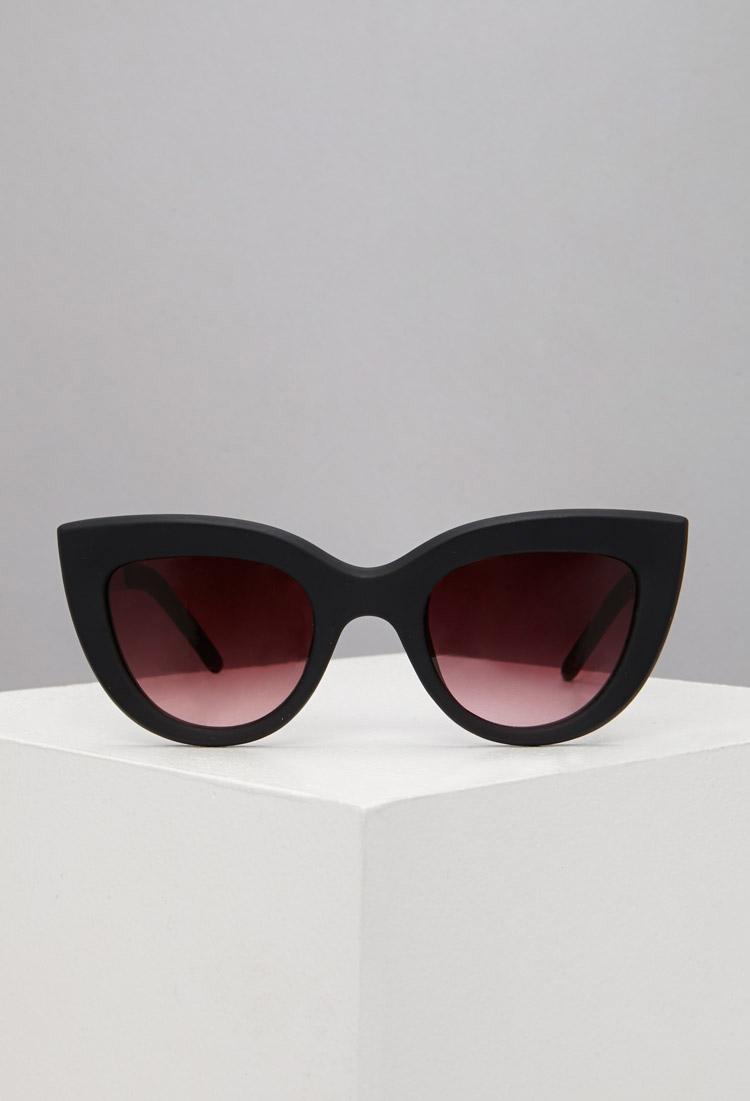 6e8aaefaf39 Lyst - Forever 21 Matte Cat-Eye Sunglasses in Metallic