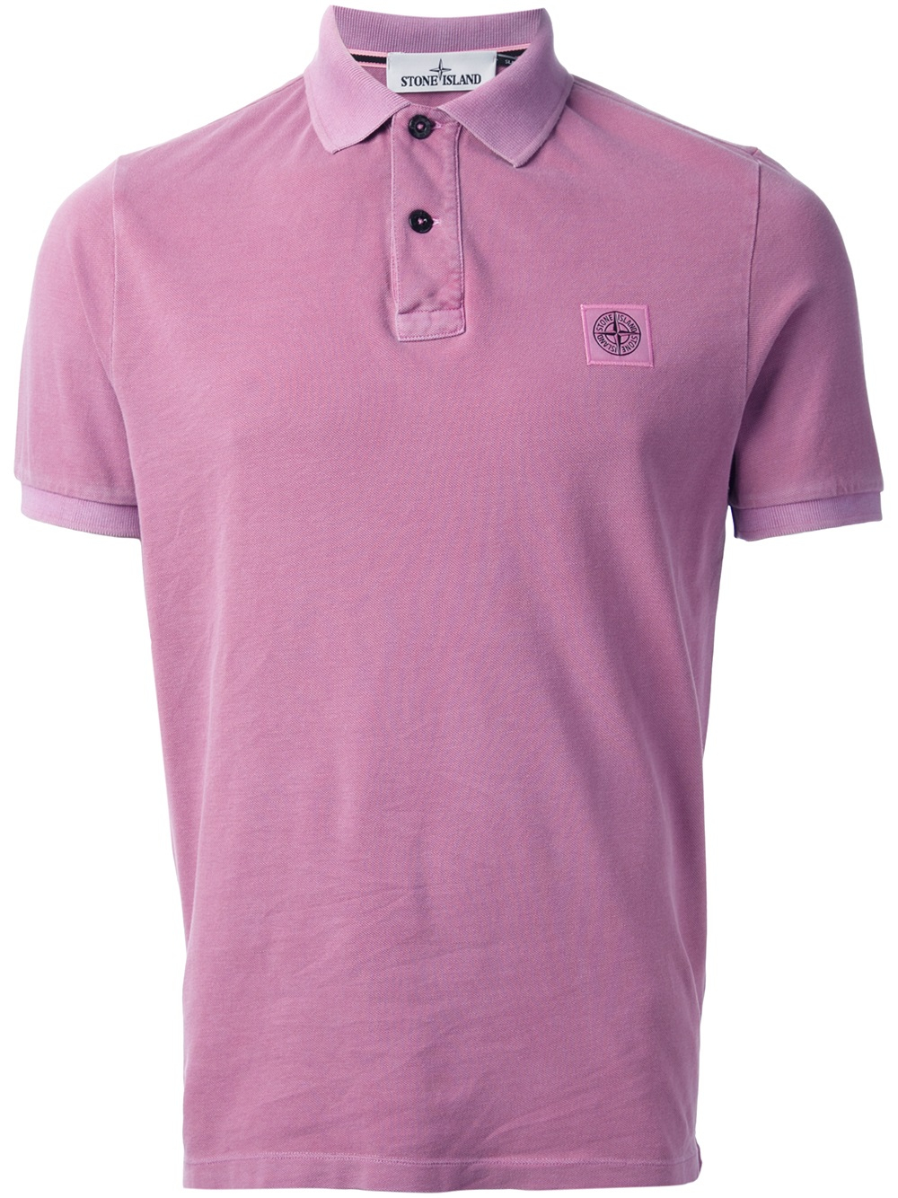 Lyst Stone Island Classic Polo Shirt In Pink For Men
