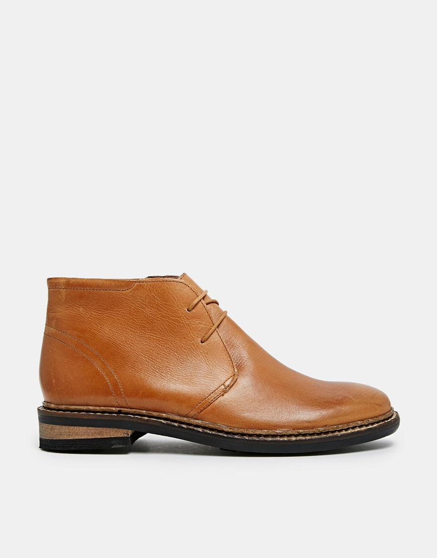 kg by kurt geiger godfrey leather boots in brown for