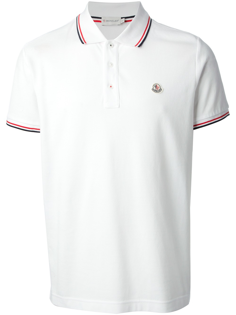 lyst moncler polo shirt in white for men. Black Bedroom Furniture Sets. Home Design Ideas