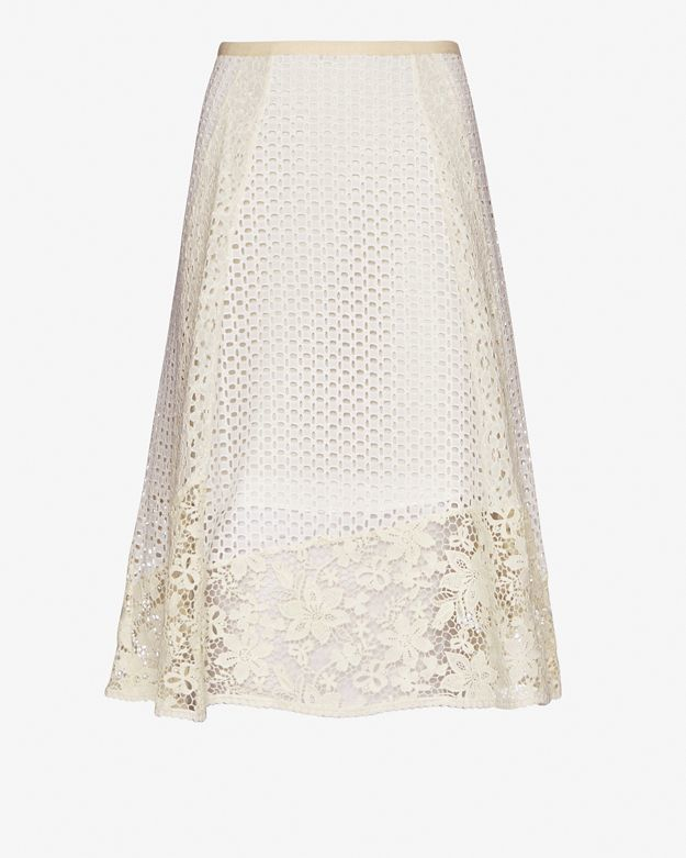 See by chloé A-line Lace Skirt in White | Lyst