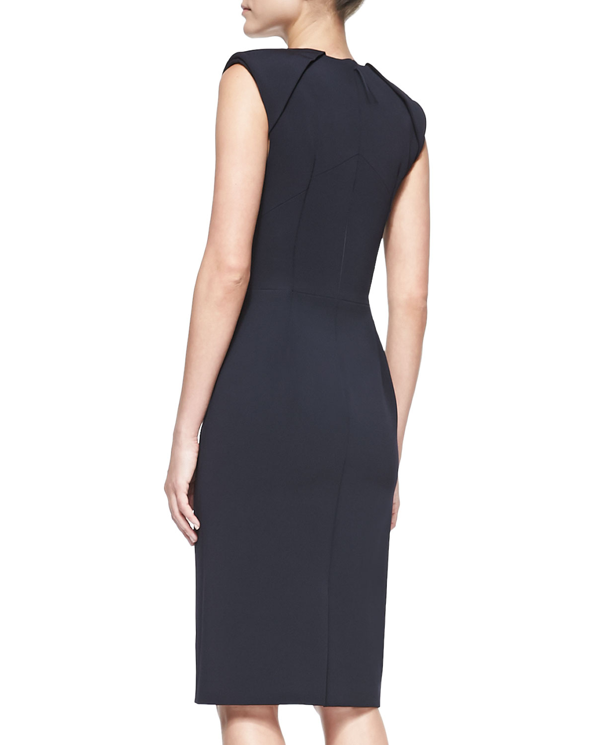 Mendel Sleeveless Caftanneck Sheath Dress in Blue (MIDNIGHT) | Lyst