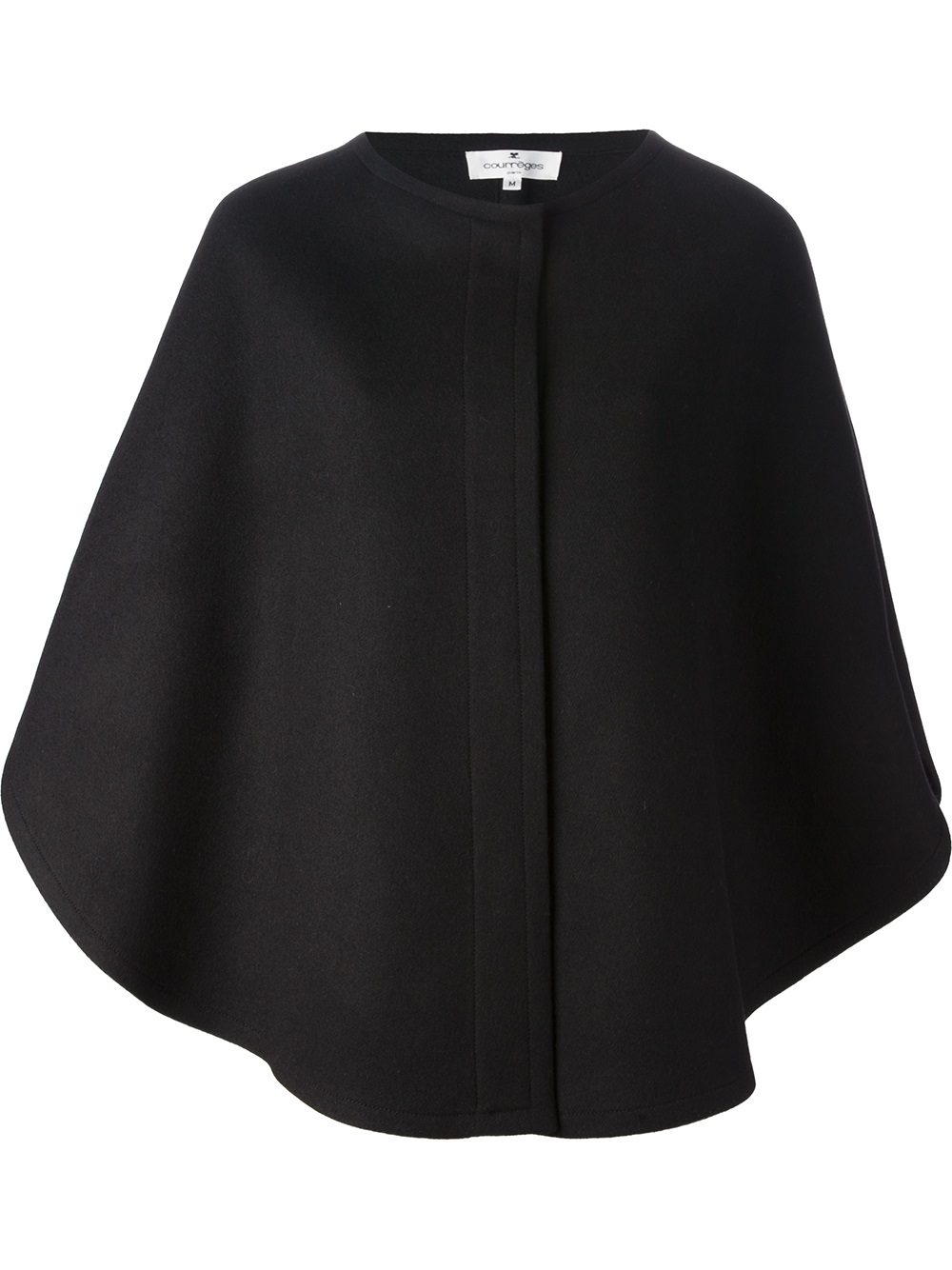 lyst courreges poncho style cape in black