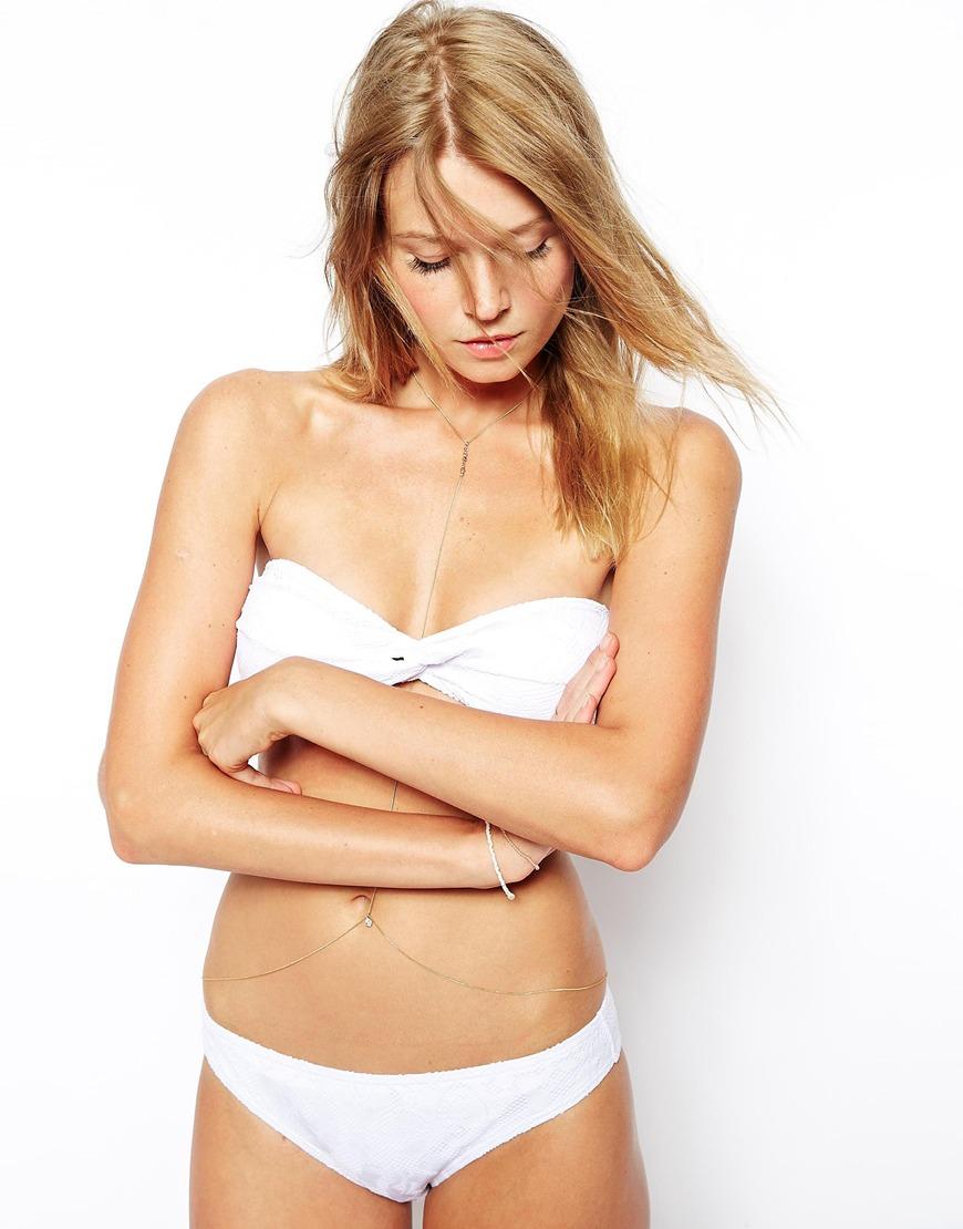 b563a5f10e Lyst - Asos Crochet Lace Hipster Bikini Bottom in White