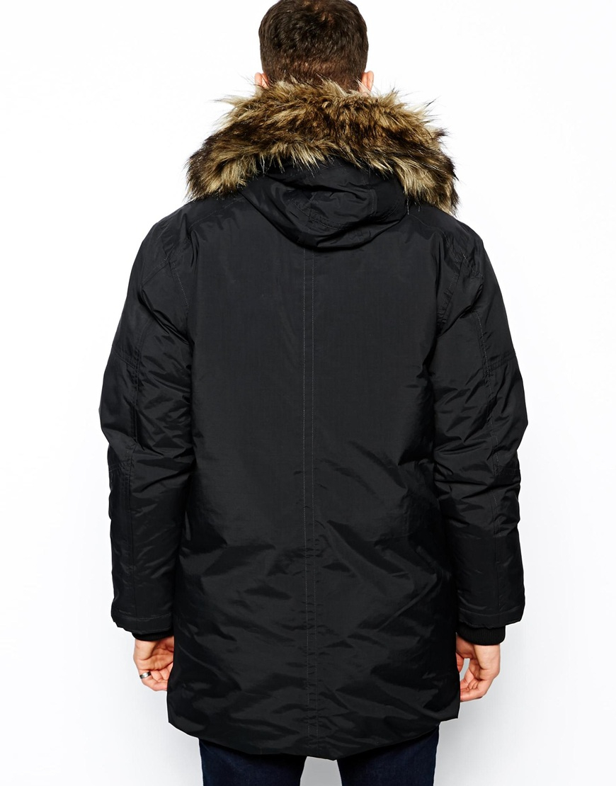 g star raw down parka mountain in black for men lyst. Black Bedroom Furniture Sets. Home Design Ideas