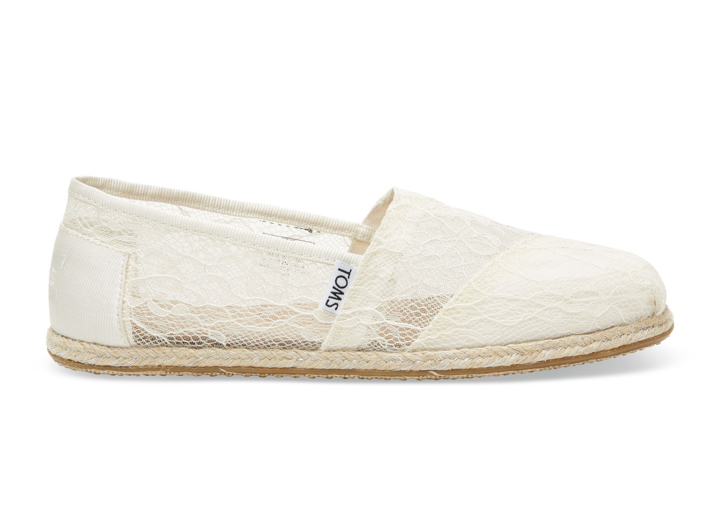 Toms White Lace Rope Shoes