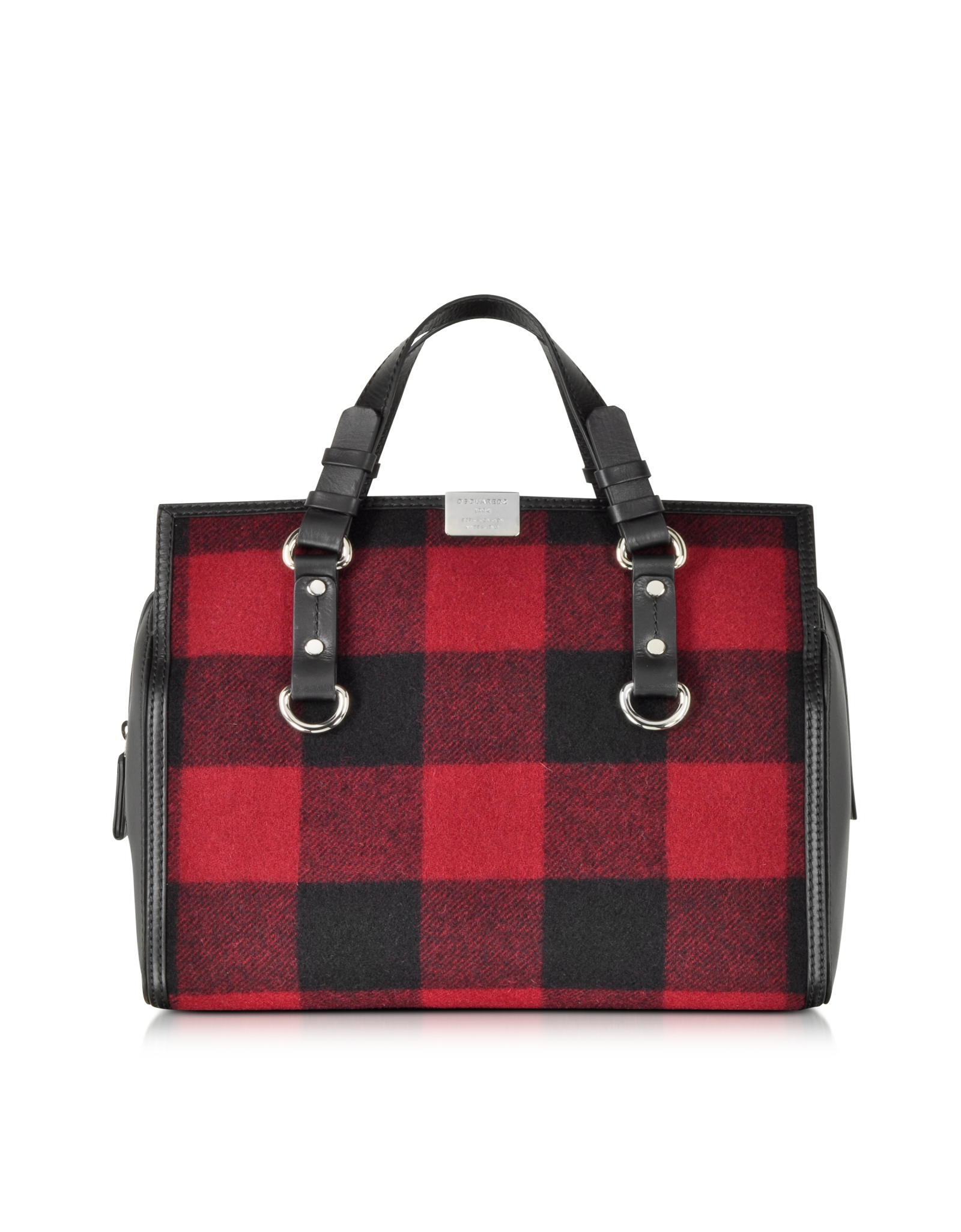 Dsquared² Quebec Black And Red Plaid Handbag in Red | Lyst
