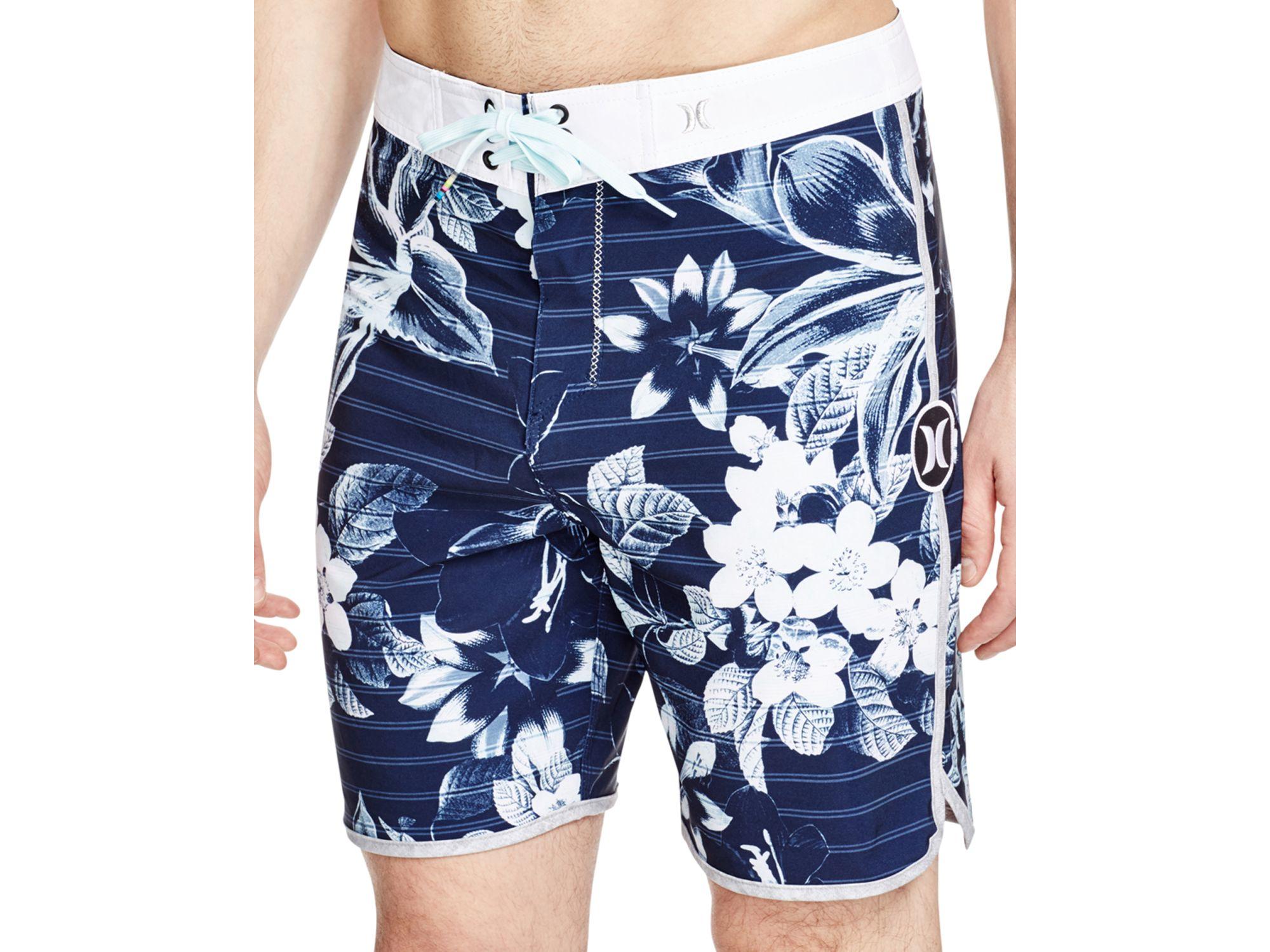 Lyst Hurley Phantom Lark Floral Board Shorts In Blue For Men