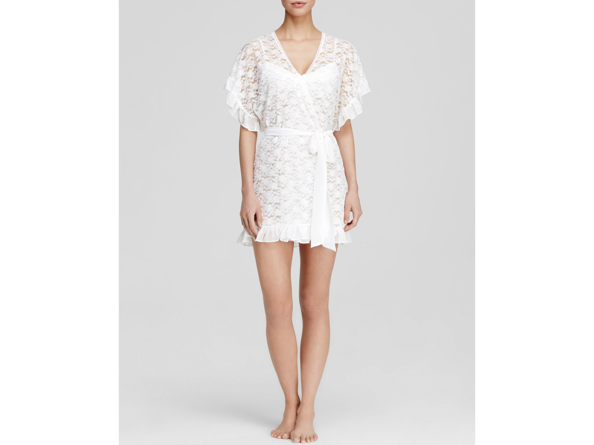 In Bloom By Jonquil Lace Bridal Wrapper in White - Lyst 4ad0b1159