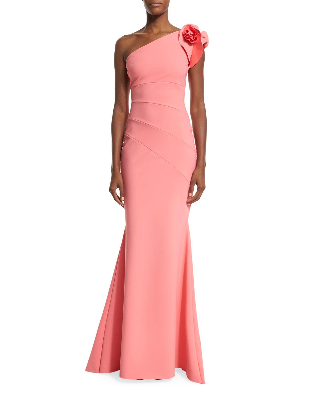 8acaaf9d La Petite Robe Di Chiara Boni Enrica One-shoulder Column Gown in ...