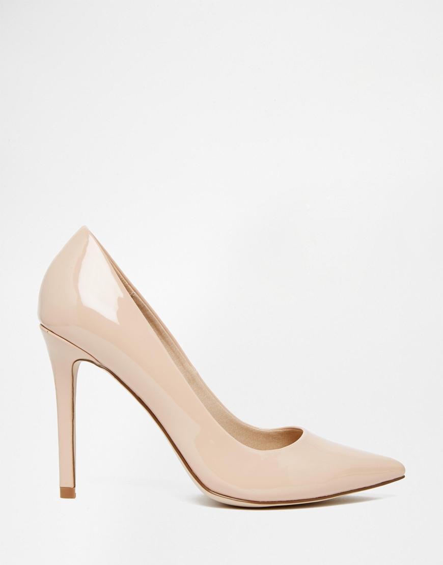 asos peru pointed high heels in beige nude lyst. Black Bedroom Furniture Sets. Home Design Ideas