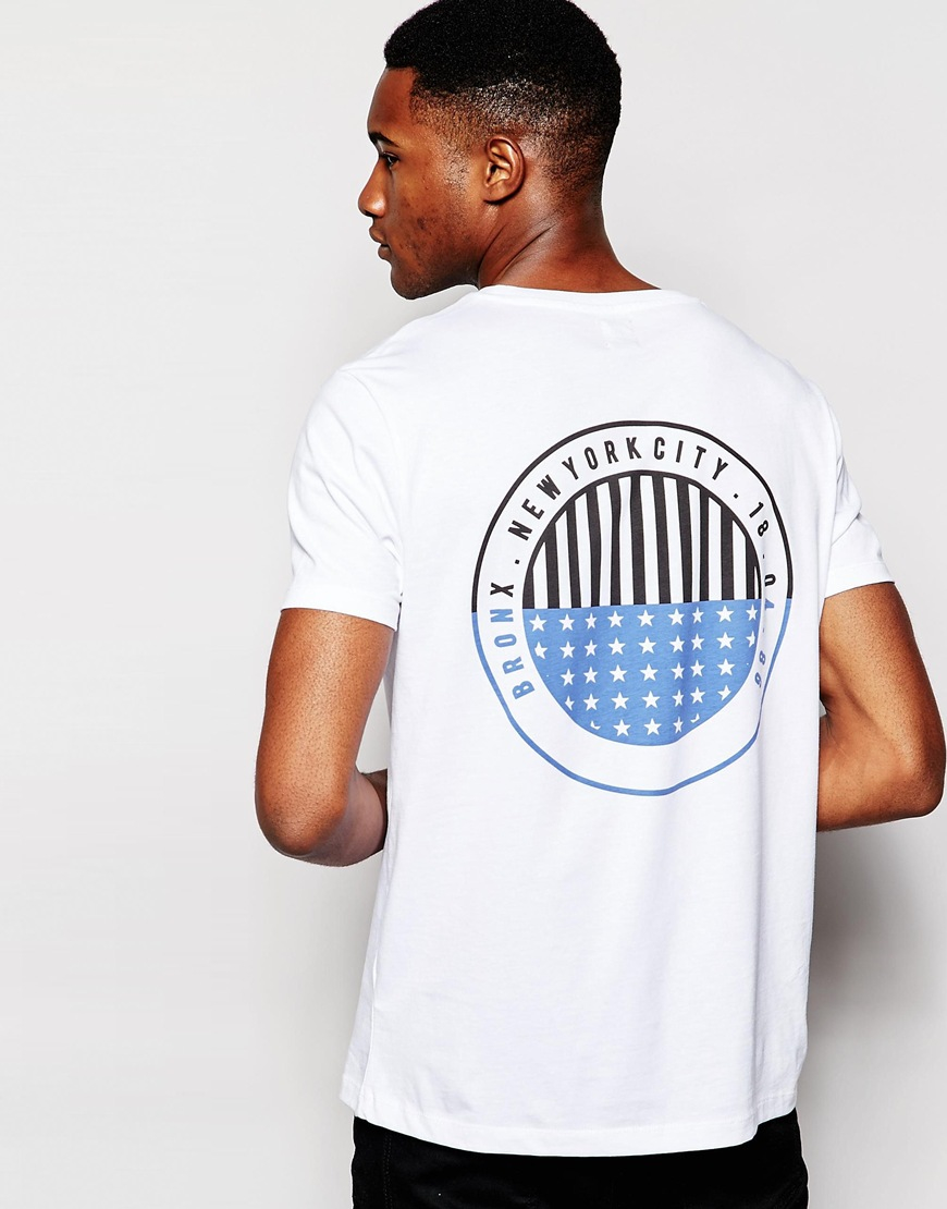 lyst asos t shirt with bronx circle front and back print