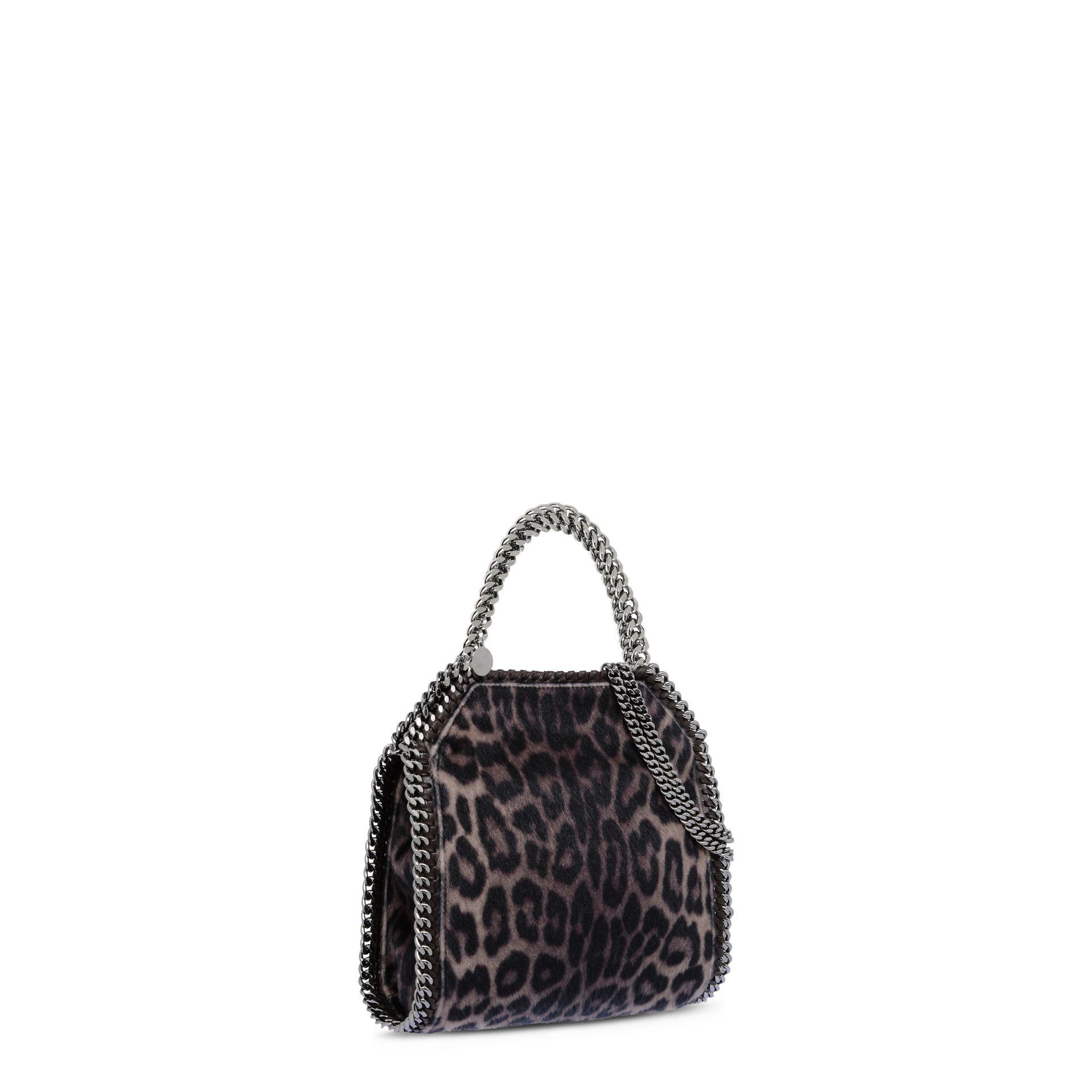 40e1bfd01245 Stella McCartney Falabella Leopard Alter Pony Mini Tote Bag - Lyst
