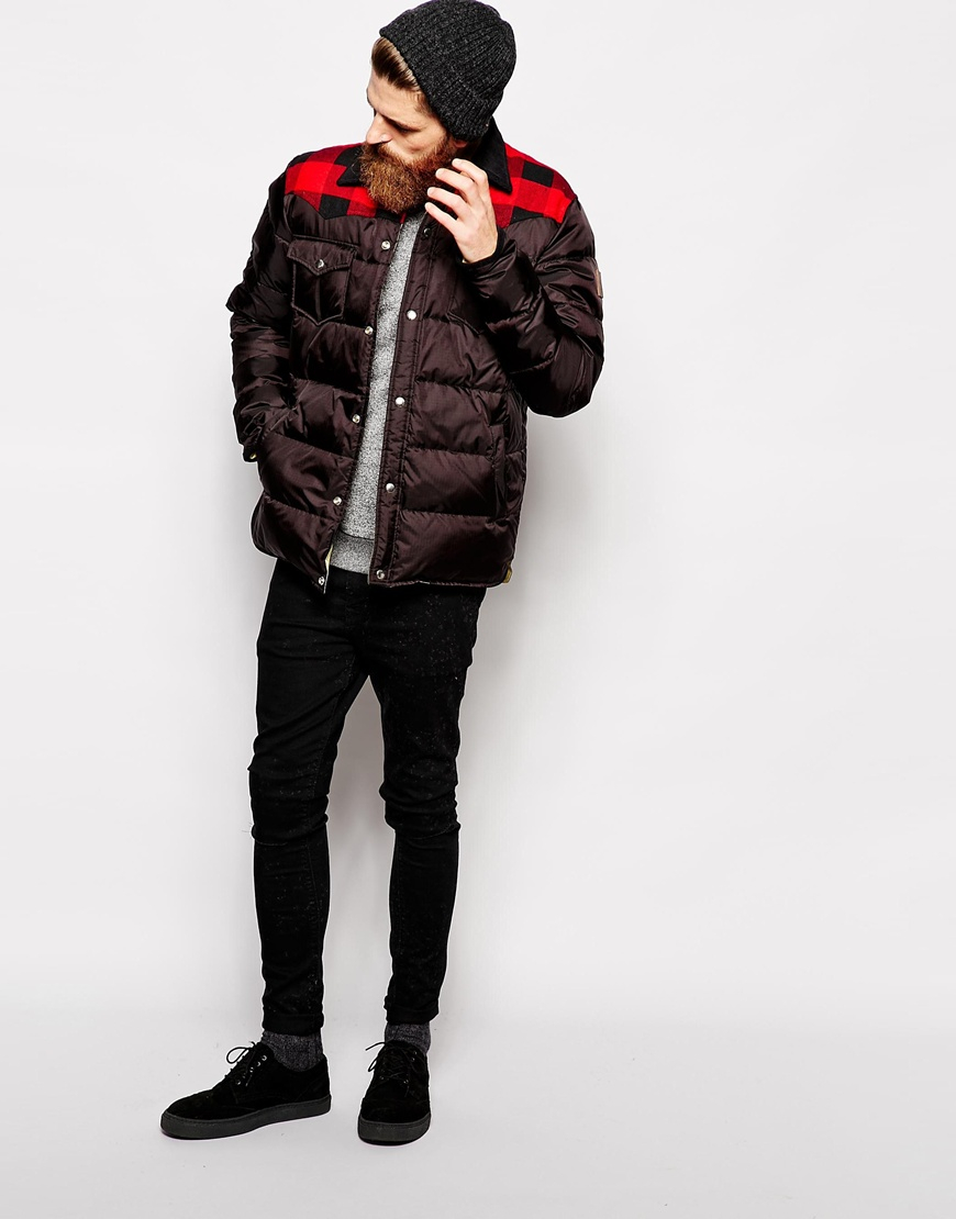 Lyst Penfield Rockford Down Fill Jacket With Check Yoke