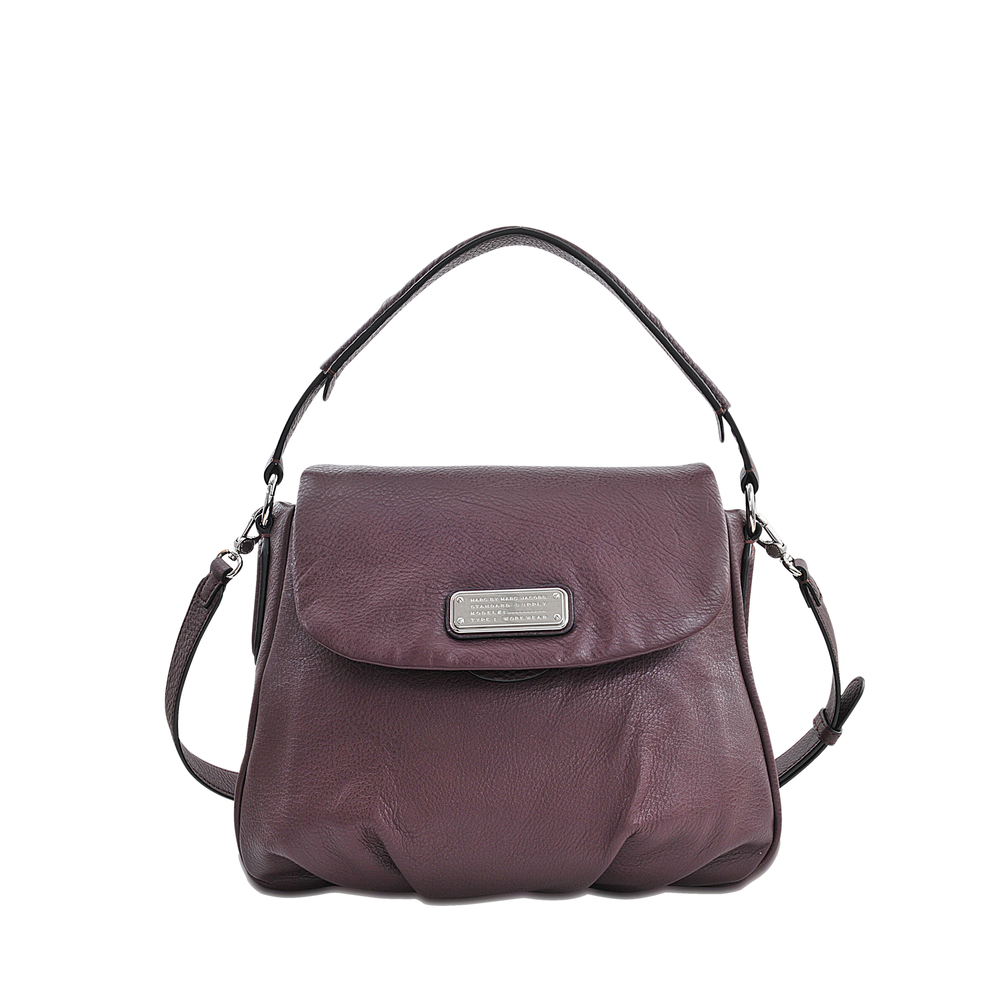 lyst marc by marc jacobs new q lil ukita leather shoulder bag in purple. Black Bedroom Furniture Sets. Home Design Ideas