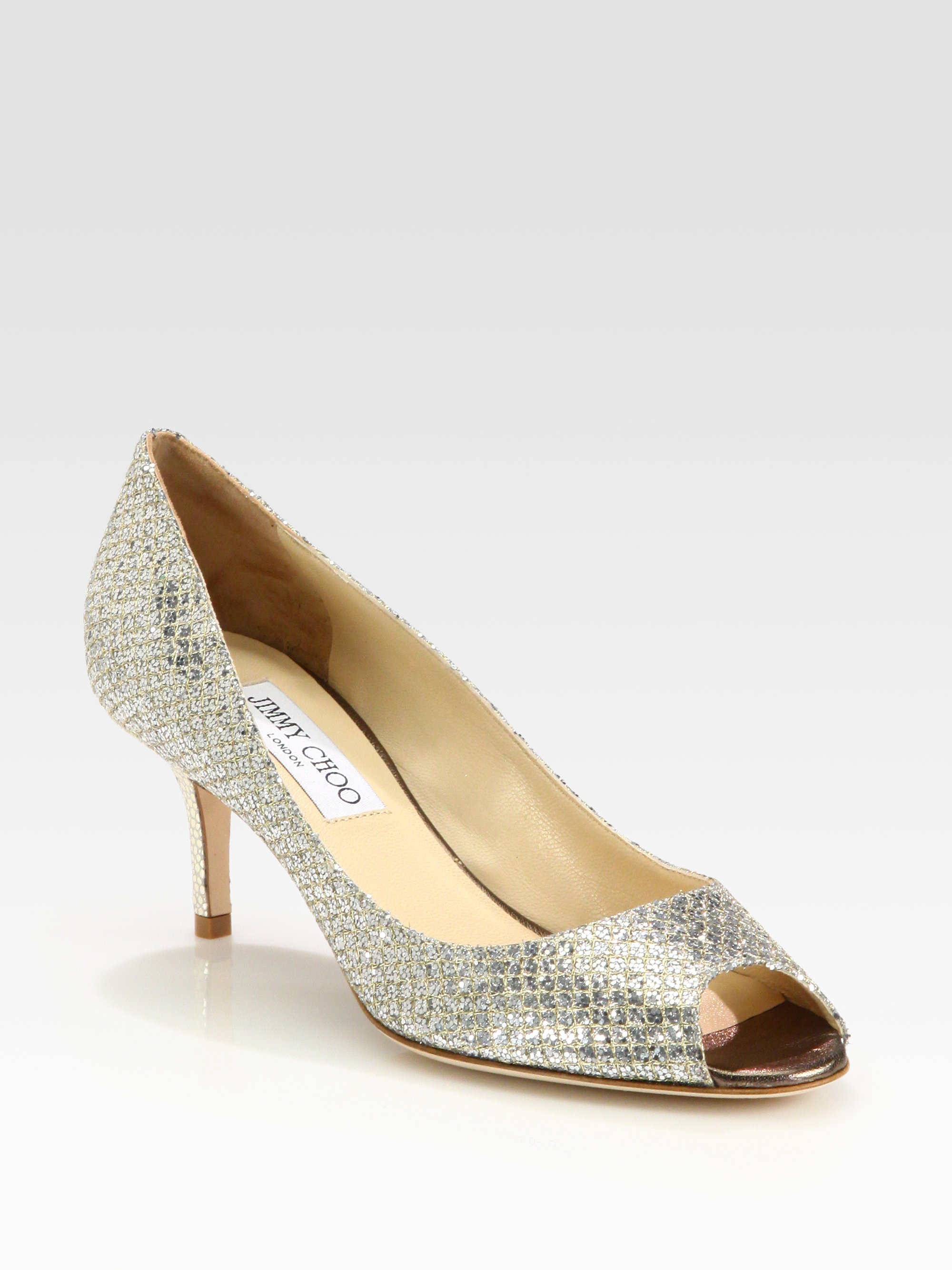jimmy choo isabel glitter pumps champagne 14