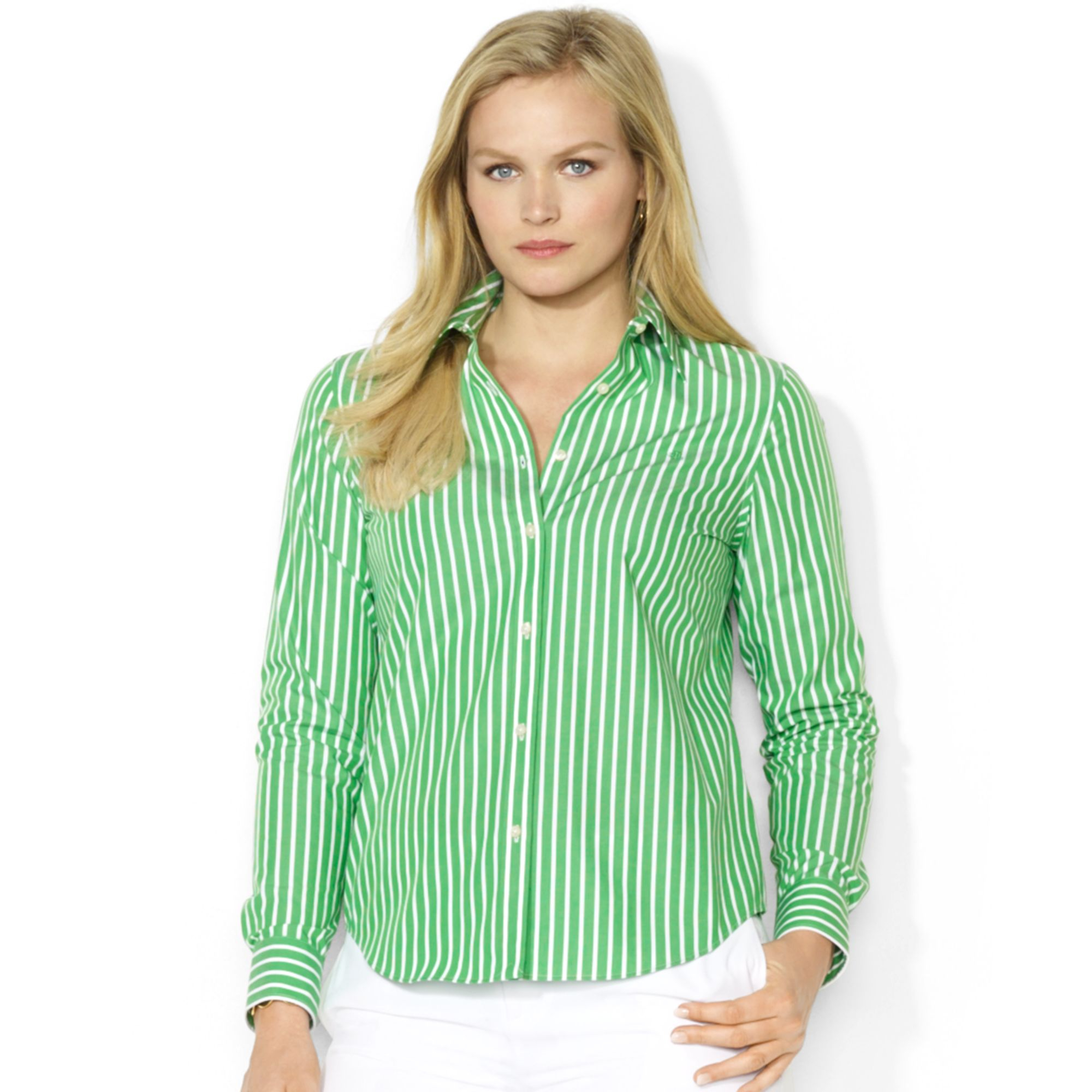 Green Plus Size Shirts