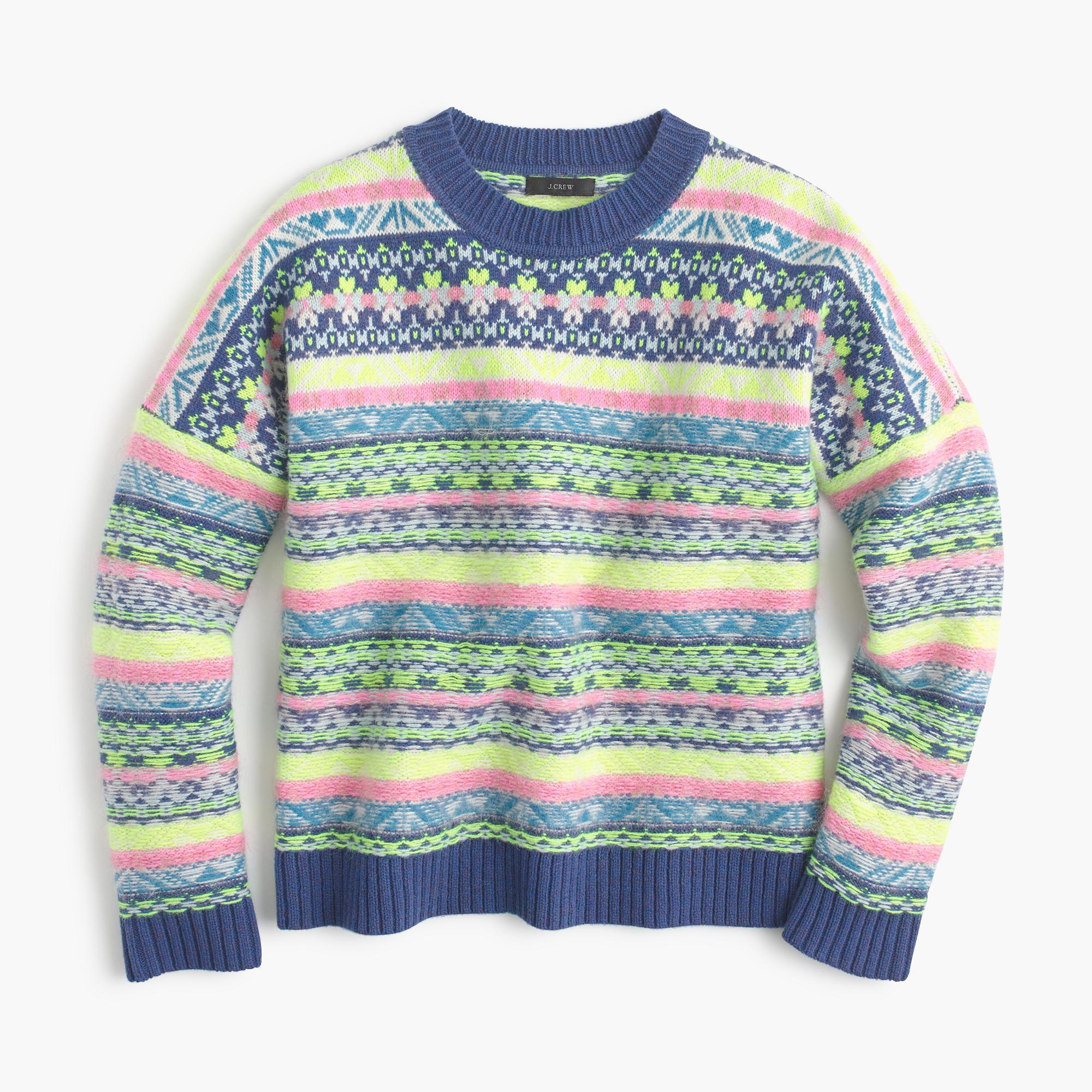Lyst Jcrew Fair Isle Crewneck Sweater