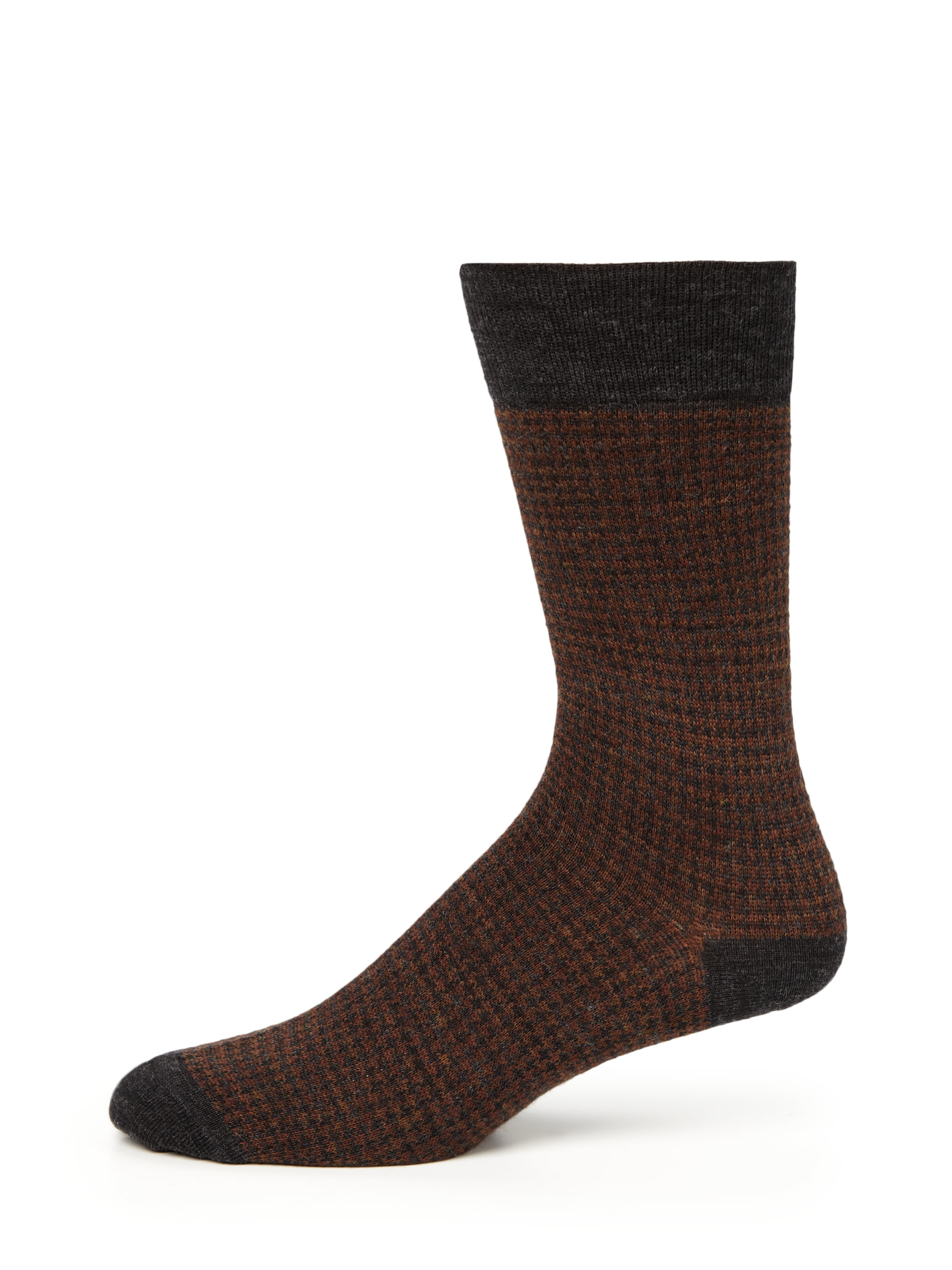 Saks fifth avenue Houndstooth Merino Wool Dress Socks in ...