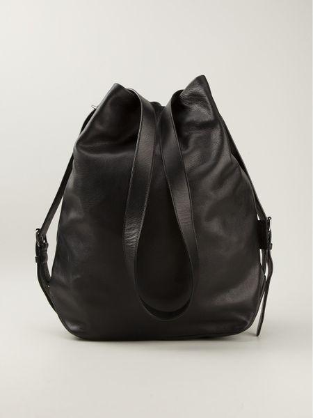 Carven Full Grain Bucket Bag In Black For Men Lyst