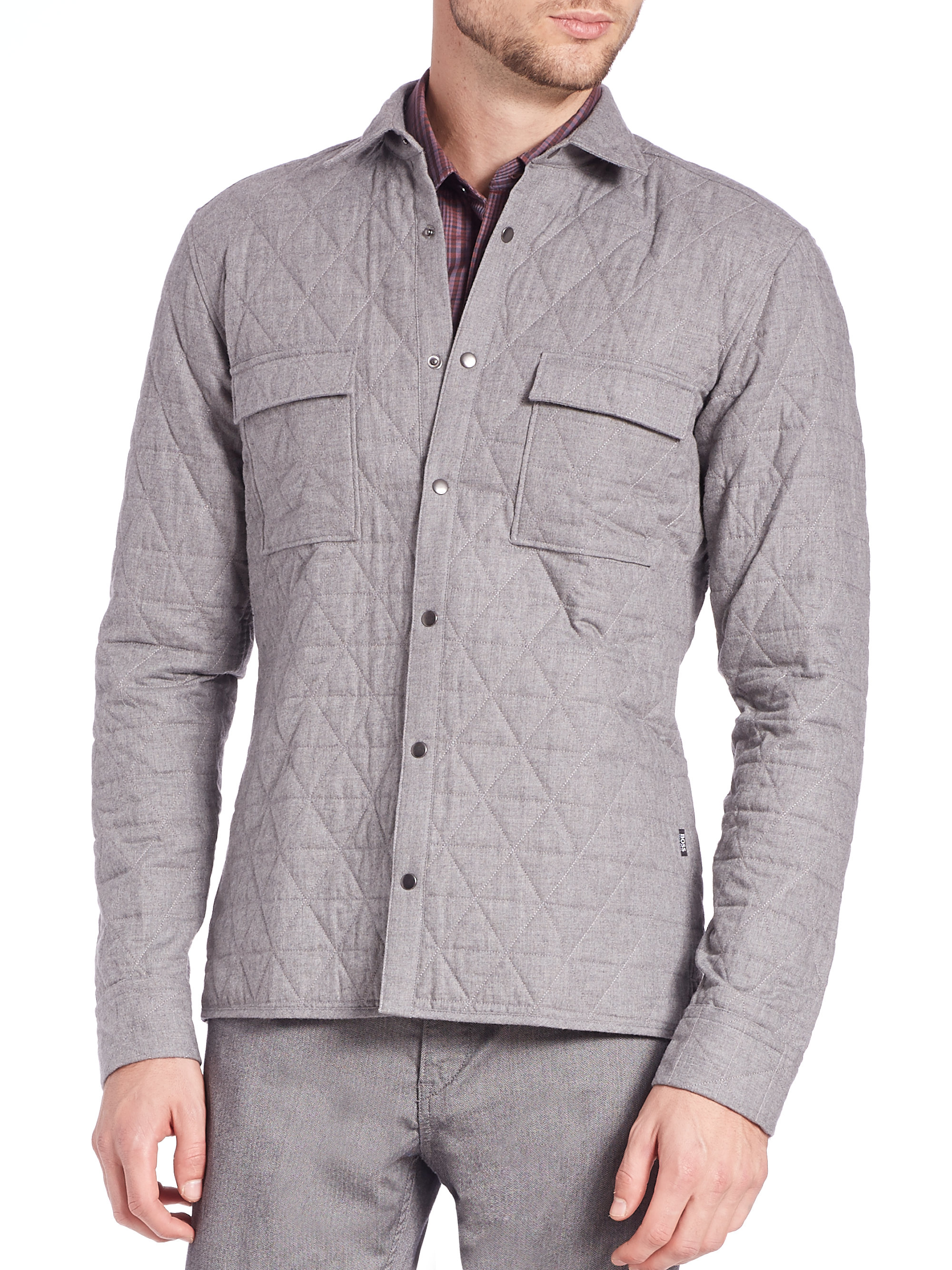 6f180a4749879 Lyst Saks Fifth Avenue Rian Quilted Jacket In Gray For Men shoes for cheap  13139 f7260  Ted Baker ...