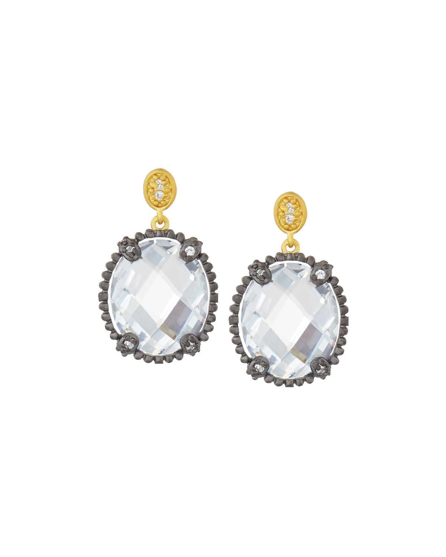 Freida Rothman Oval Iridescent Drop Earrings 5k6Hmdb