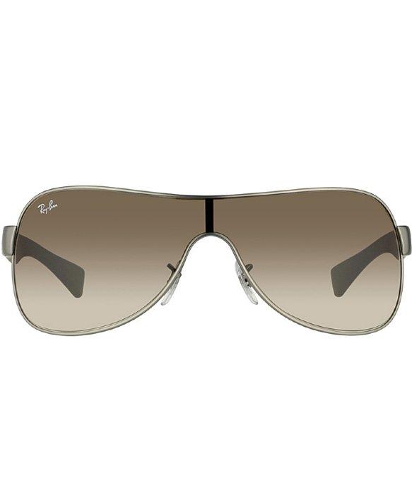ce8ca445e08 Ray-Ban Rb 3471 029 13 Matte Gunmetal   Matte Brown Shield Plastic ...