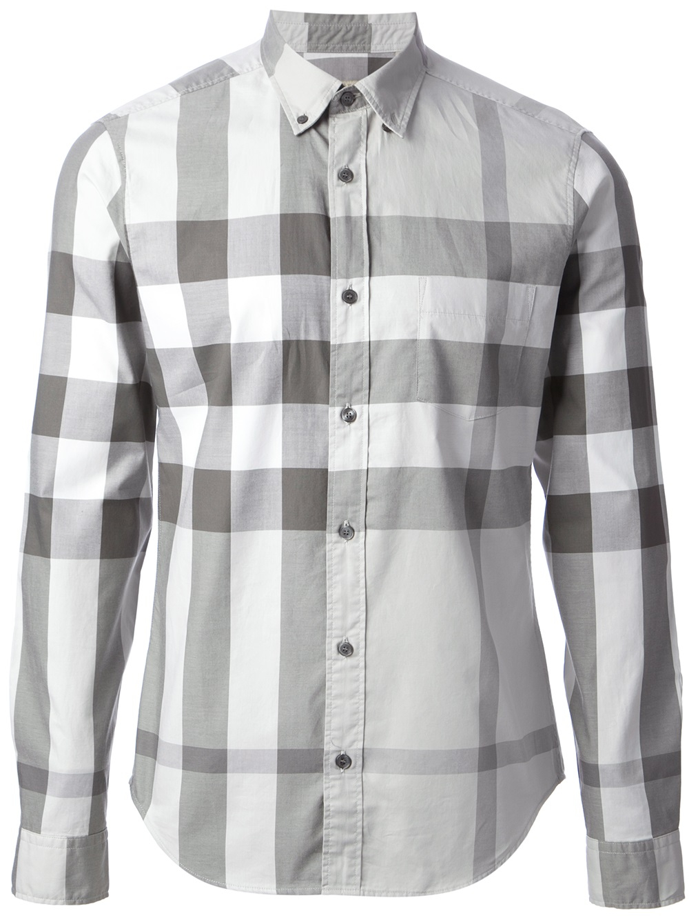 Lyst burberry brit grigio check shirt in gray for men for Burberry brit green plaid shirt