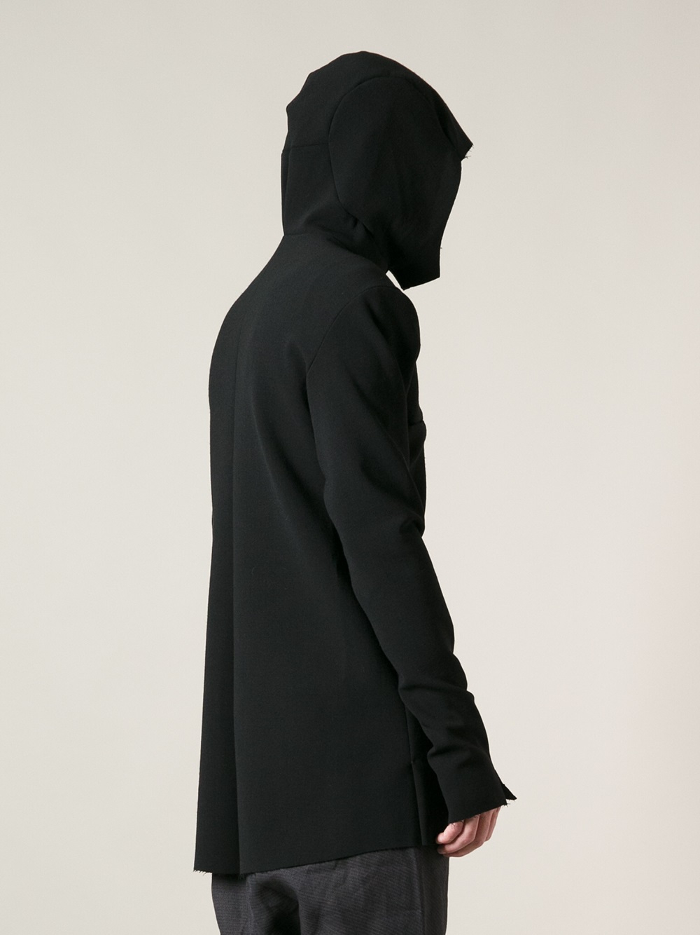 Ma  Long Zipped Hooded Jacket in Black for Men | Lyst