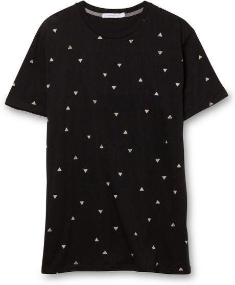 Alternative apparel black wanderlust cotton modal crew t for Black pyramid t shirts for sale