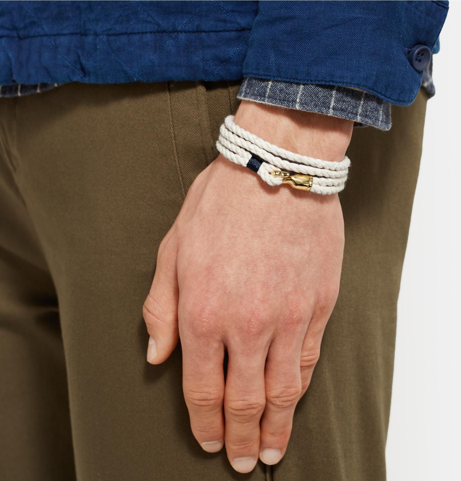 Miansai Gold Plated Hook on Bracelet nIVOa