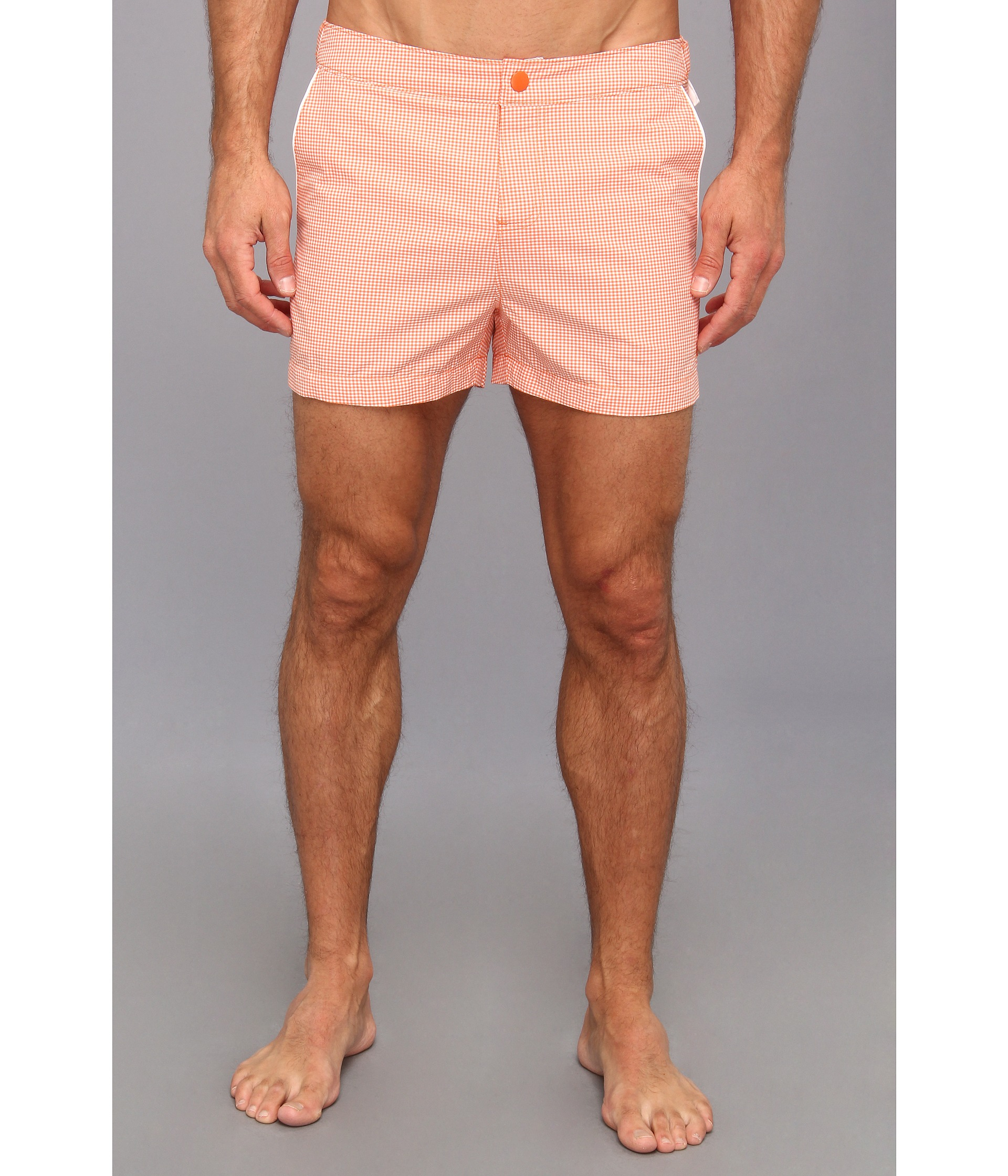 f94b2f8e58 Original Penguin Micro Gingham Box Swim Short in Pink for Men - Lyst