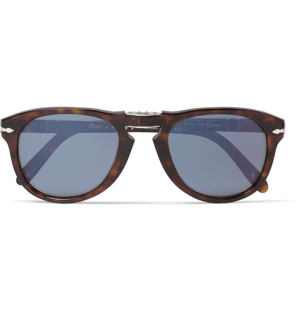 persol steve mcqueen folding acetate polarised sunglasses. Black Bedroom Furniture Sets. Home Design Ideas