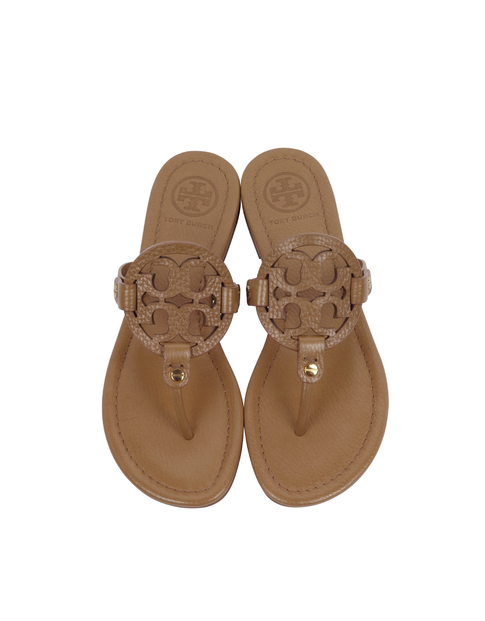 f72c14ee66bfc9 Tory Burch Miller Royal Tan Leather Sandal in Brown - Lyst