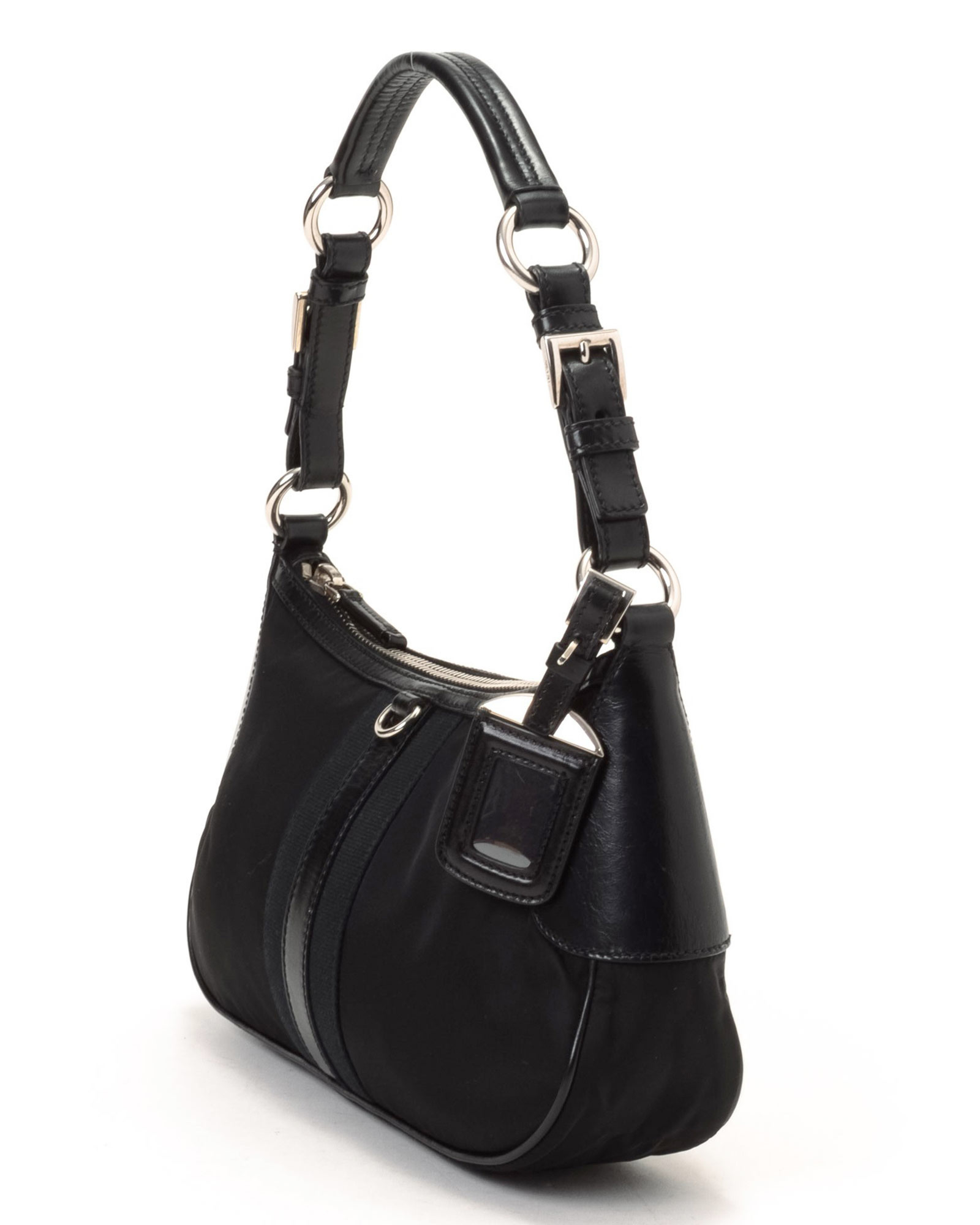 46489f806319 ... new zealand lyst prada tessuto shoulder bag vintage in black e33f0 d9dc7
