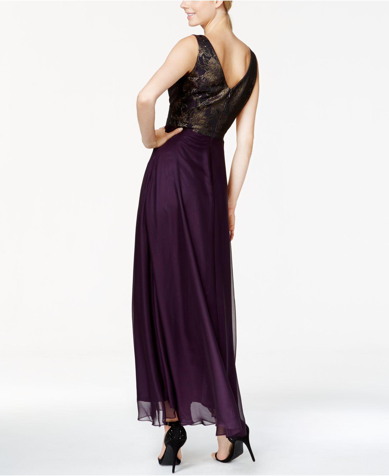 9a61e2ffe9 Lyst - Tahari Metallic-print Gown And Jacket in Purple