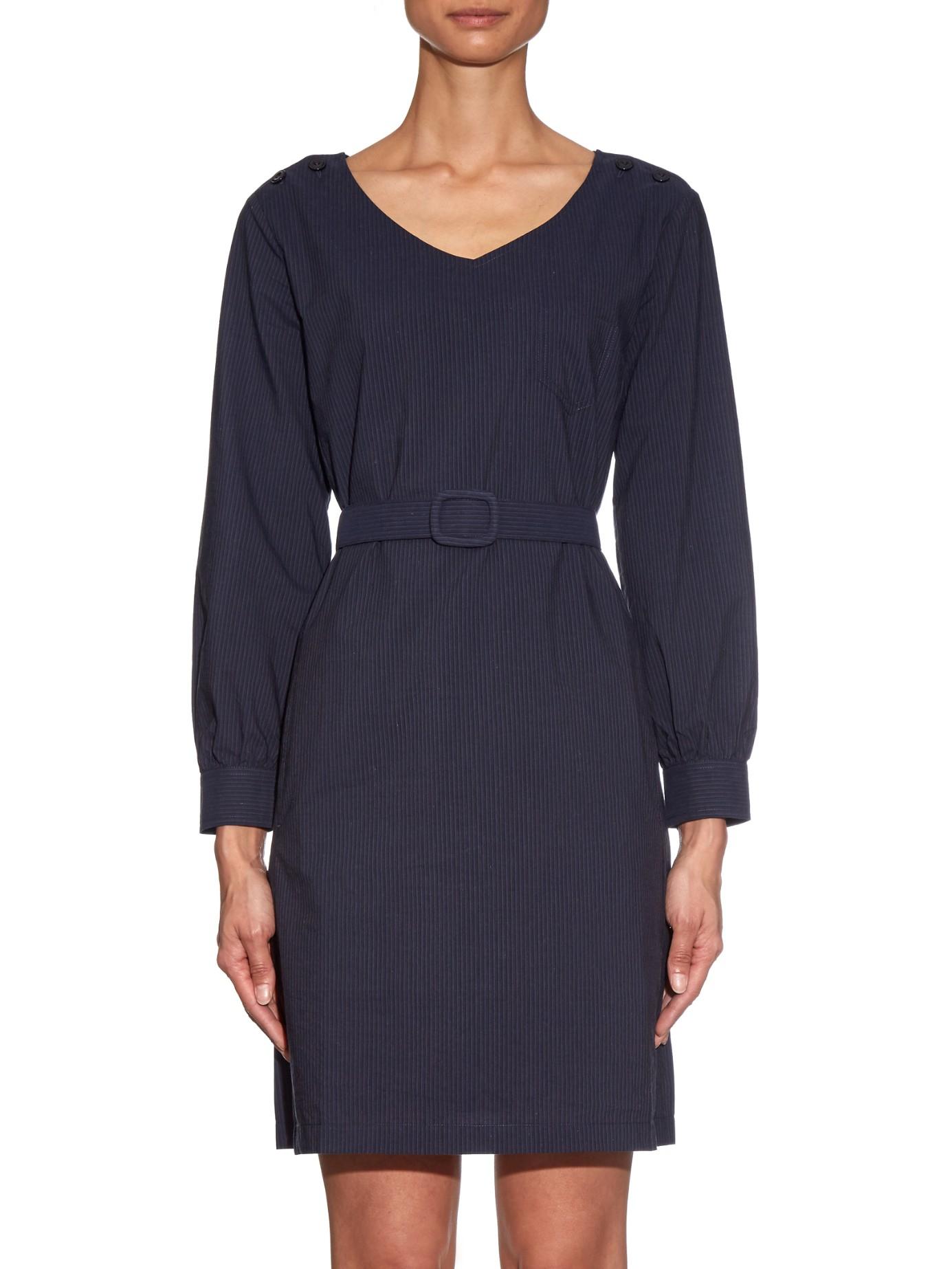 A.p.c. Robe Masha Cotton Dress in Blue  Lyst