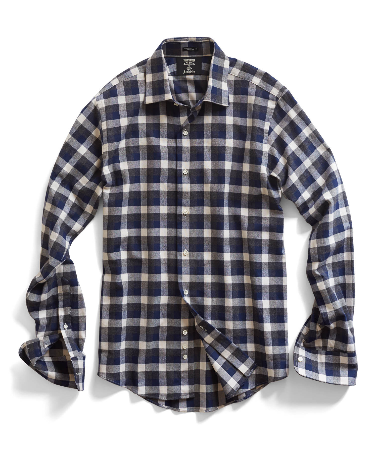 todd snyder dress shirt in grey plaid in gray for men
