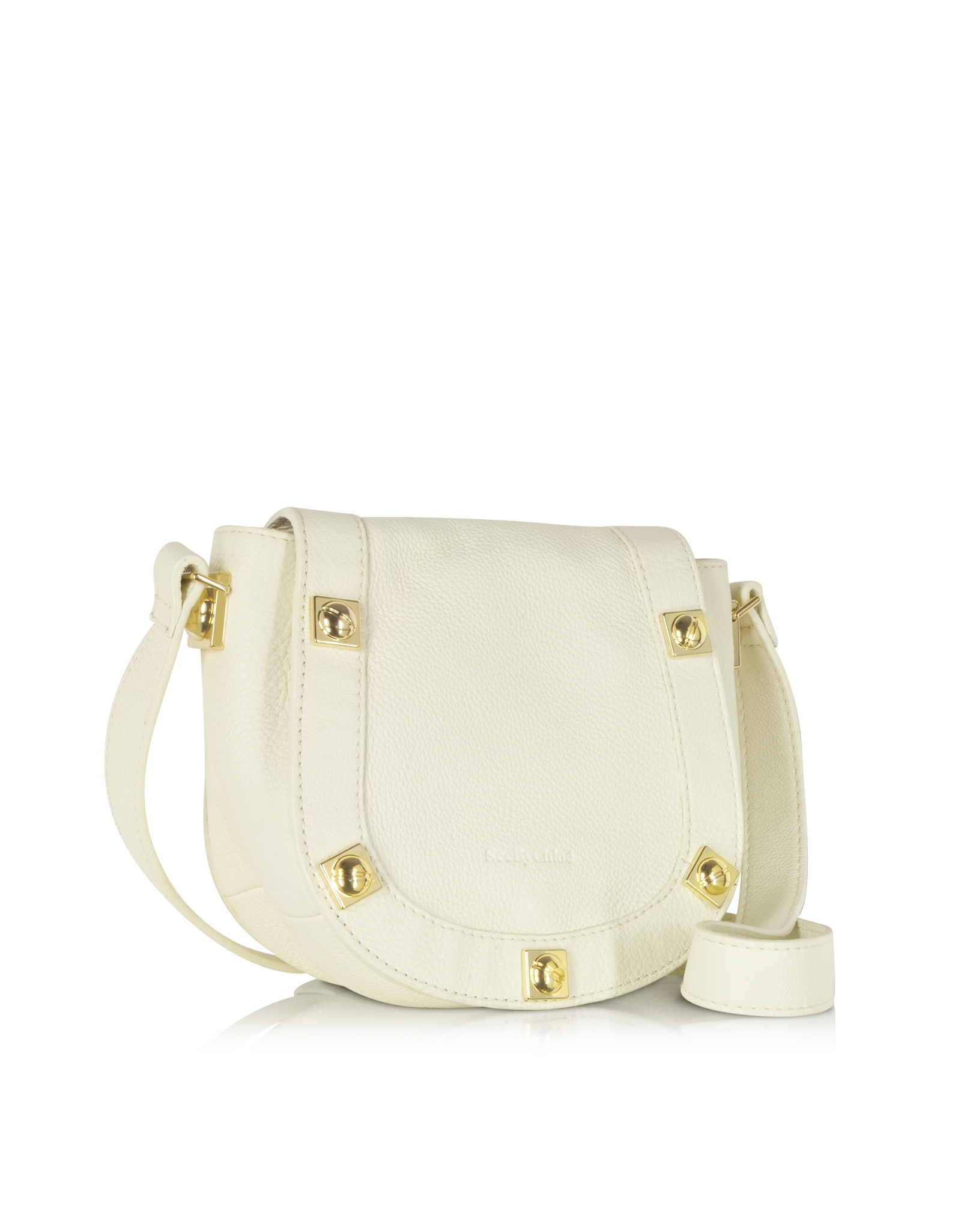 See by chlo¨¦ Sadie Milk Leather Mini Crossbody Bag in Beige (gold ...