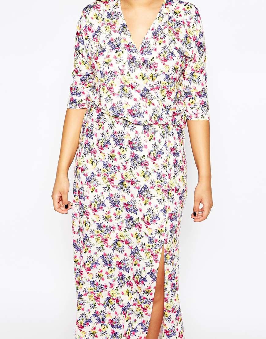 Ditsy floral print maxi dress