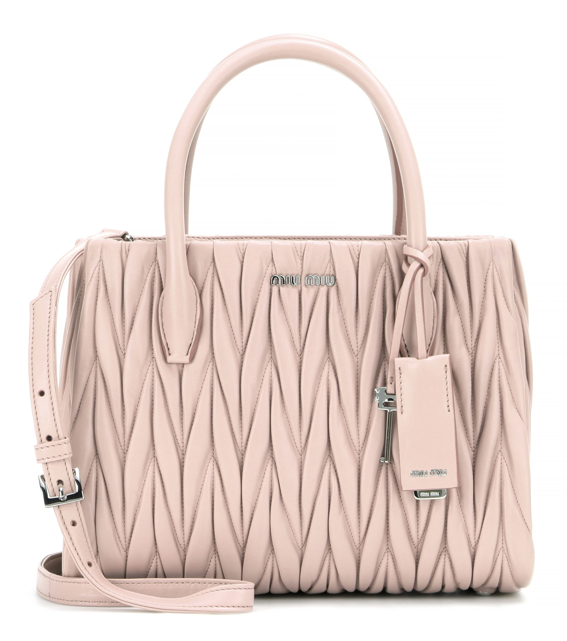f6dd13911946 miu miu outlet hong kong - Miu miu Matelass¨¦ Leather Tote in Pink