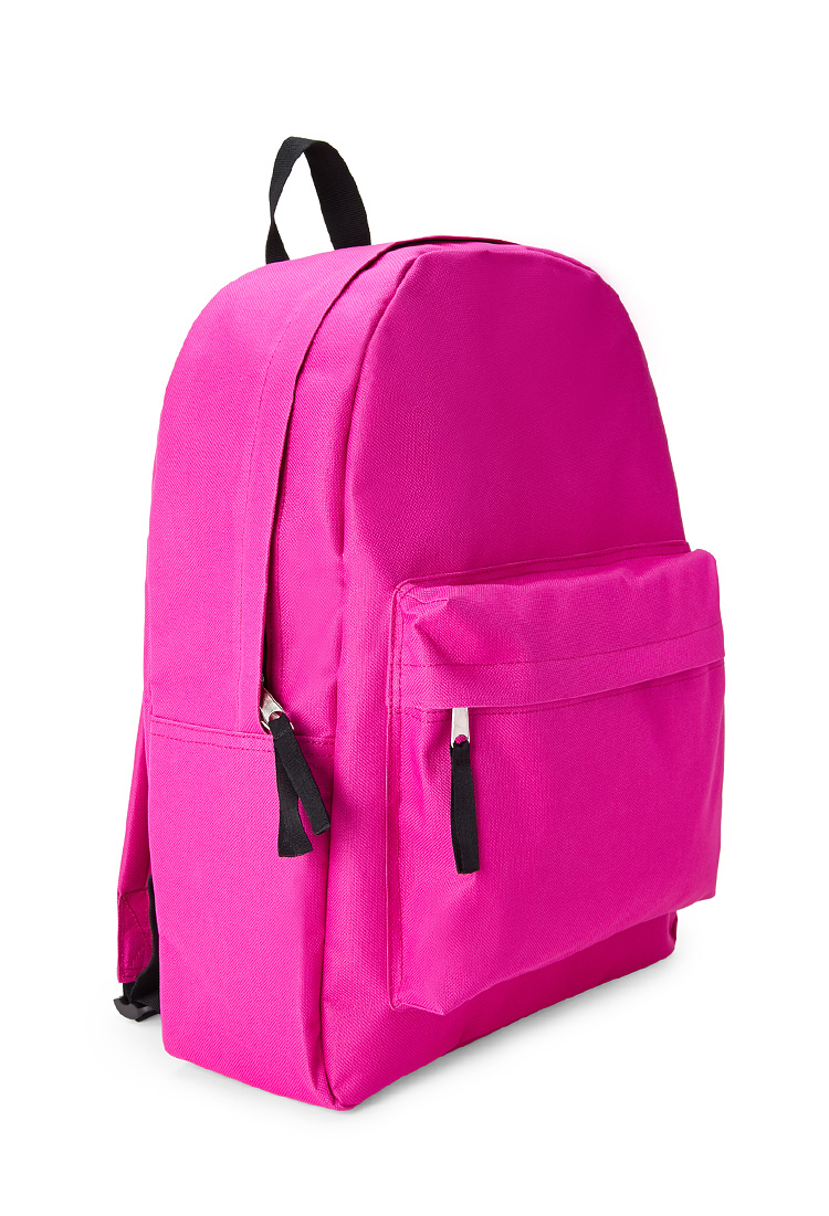 Lyst - Forever 21 Classic Zippered Canvas Backpack in Pink 54cedfd5b1609