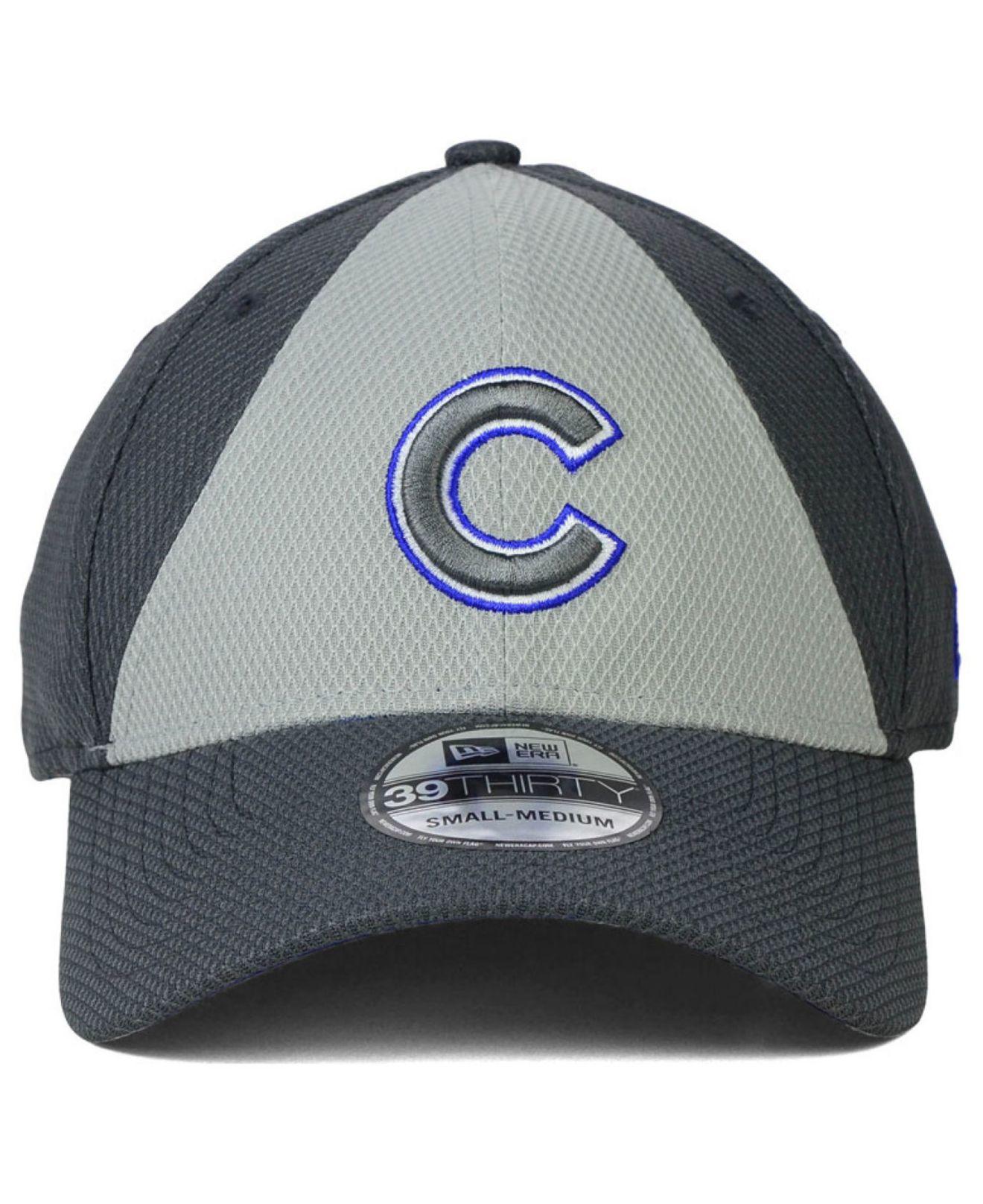 Lyst - Ktz Chicago Cubs Diamond Era Double Play 39thirty Cap in Gray ... 2ed20db23b07