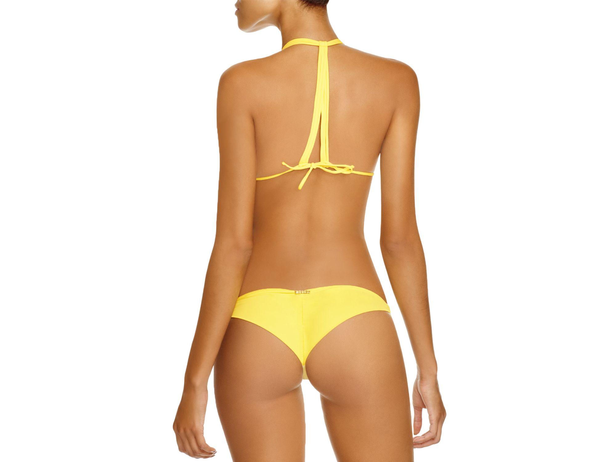 a0bf08016b222 Lyst - Sofia By Vix Sunrise Triangle Bikini Top in Yellow