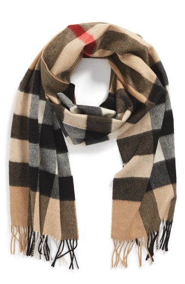 burberry scarf in blue for lyst