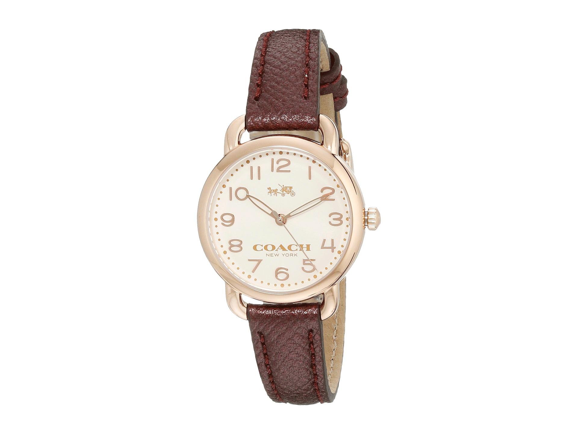 Lyst - Coach Delancey 28mm Leather Strap Watch in White