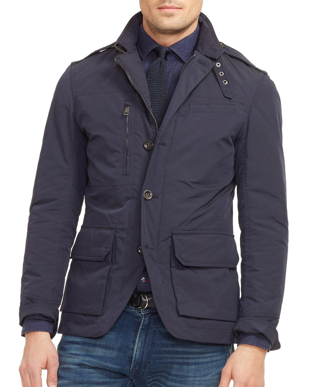 Ralph lauren Black Label Military Sport Coat - Slim Fit in Blue ...