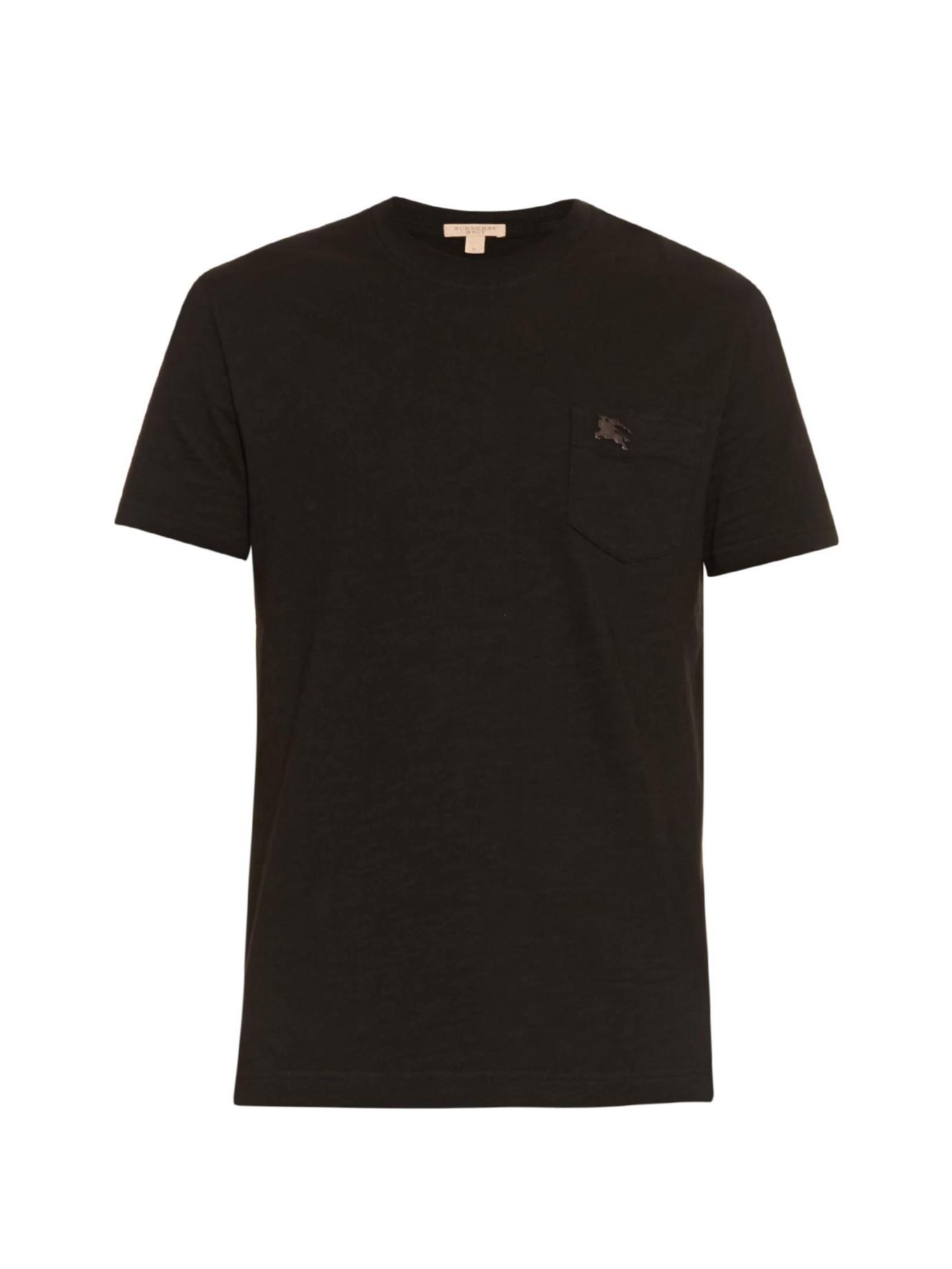 Burberry brit Ashland Cotton T-shirt in Black for Men | Lyst