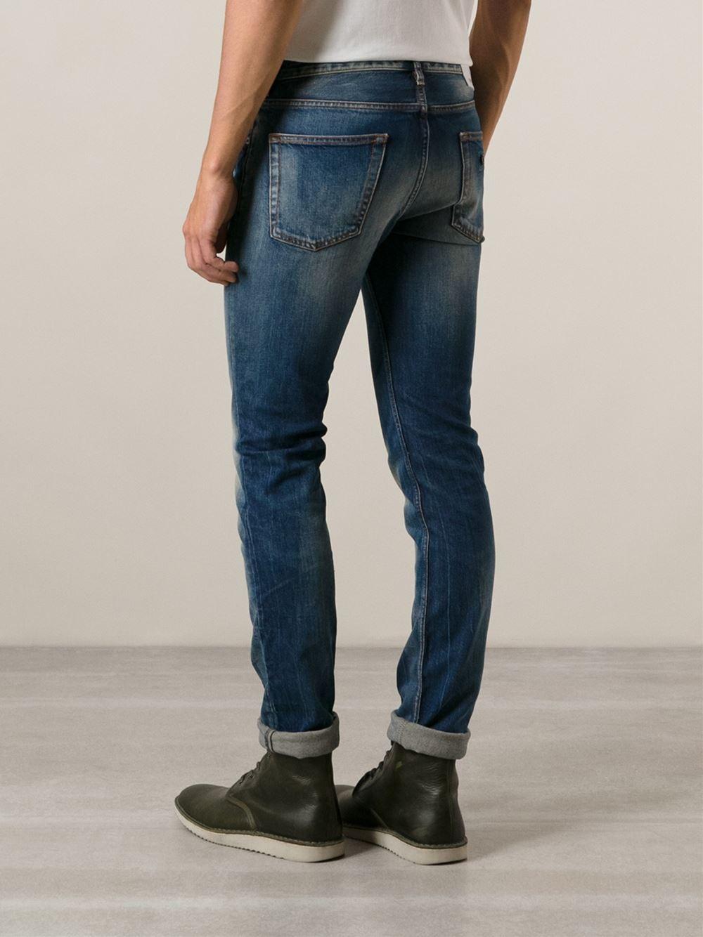 stone island skinny jeans in blue for men lyst. Black Bedroom Furniture Sets. Home Design Ideas