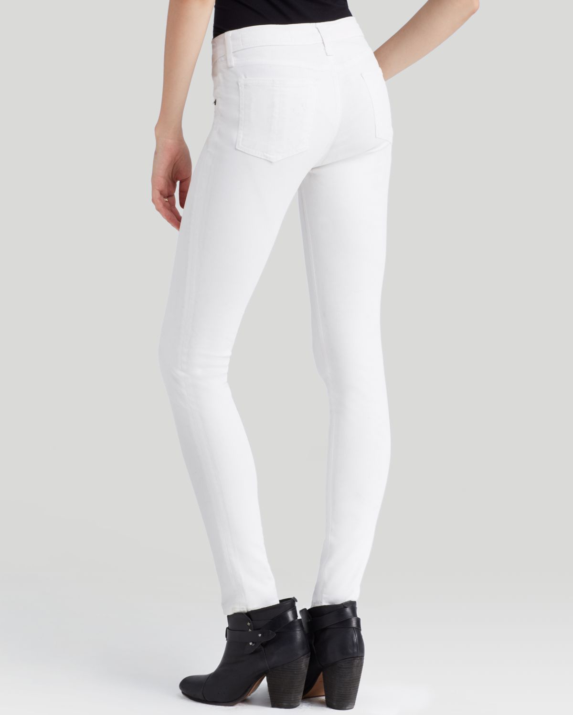 Rag & bone Jeans The Legging in Coated White in White | Lyst
